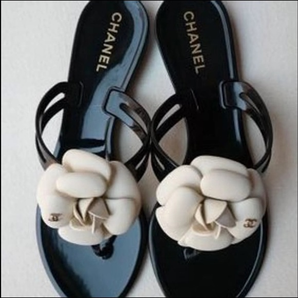 26c7587b7 CHANEL Shoes - CHANEL Camellia rubber thong sandals
